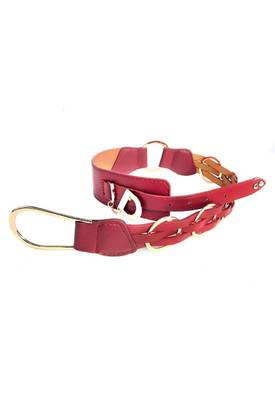 Just Women - Stunning Indian Red Womens Leather Belt