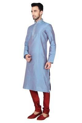 Indian Poshakh Rama Green Art Silk Kurta Pajama
