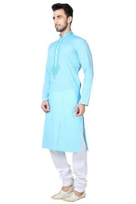 Indian Poshakh Ferozze Cotton Kurta Pajama