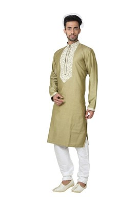 Indian Poshakh Antique Pure Monnga Silk Kurta Pajama