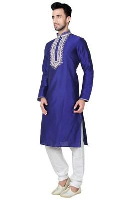Indian Poshakh Royal Blue Art Silk Kurta Pajama