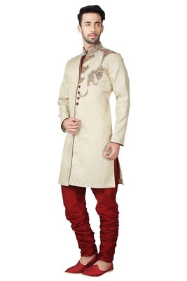 Indian poshakh gold brocket kurta pajama