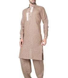 Indian poshakh gold cotton linen kurta pajama