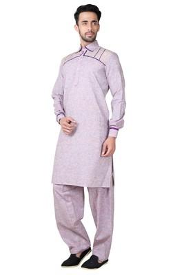 Indian Poshakh Pista Cotton Linen Kurta Pajama