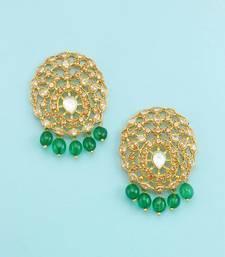 Buy Golden beige designer dangle and drop earrings jewellery for women danglers-drop online