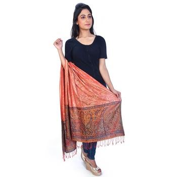Cute Paisley n Floral Designer Kashmiri Silk Stole