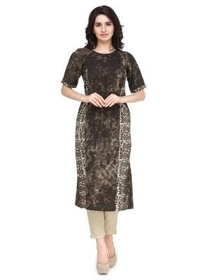 Indibelle Cloud cotton floral print a line kurti with trouser.