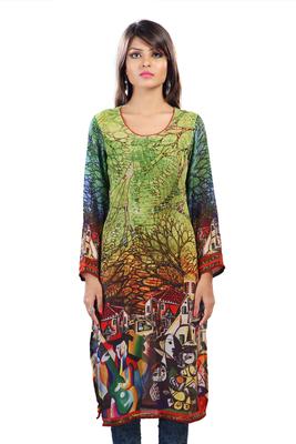 Multi Colour Georgette Digital Printed Pakistani Kurti
