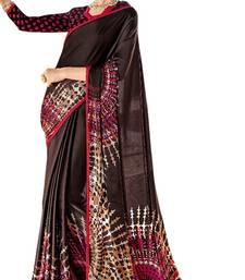 Buy Black printed georgette saree with blouse georgette-saree online