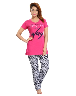 476f08f7e6 Pink cotton night dress. Set of pyjama and Tshirt. - muhenera s - 2426699