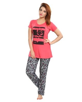 3e16781c76 De Moda Women s Printed Nightgown Code DM16936 1 DM Source · Buy Red cotton  night dress Set of pyjama and Tshirt Online