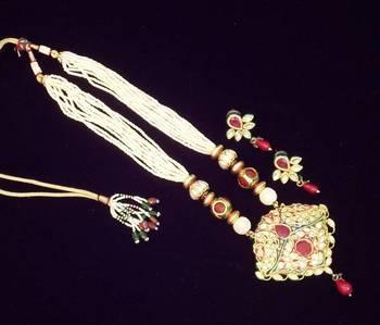 Royal Kundan Meena Necklace Set