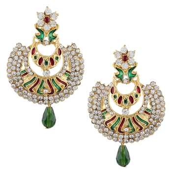 Multicolor cubic zirconia earrings