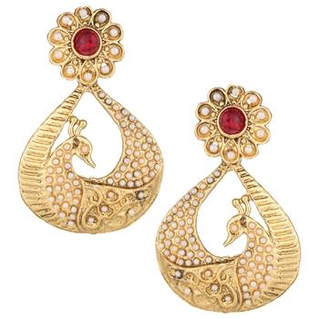 Pink cubic zirconia earrings