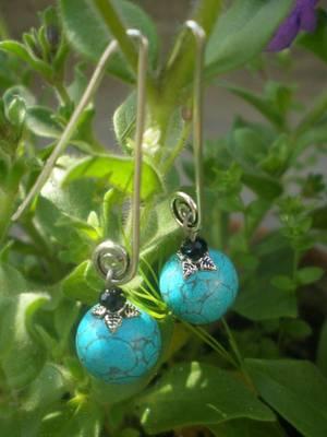 Turquoise Earrings-40274-Fashion jewellery-Aliff Lailaa Crafts