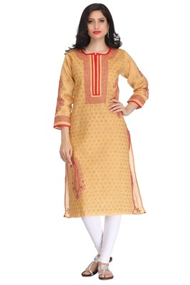 Ada Fawn embroidered cotton chikankari kurti