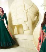 Buy Green embroidered georgette un stitched salwar with dupatta