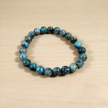 African Turquoise Bead Bracelet Size 8MM Men's Bracelet, Women's Bracelet, Meditation Crystal, Yoga Bracelet