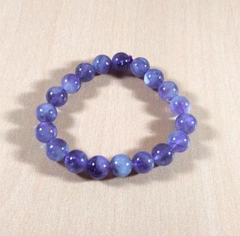Amethyst Bead Bracelet Bead Size-10mm Gem Bracelet Bracelet Reiki Bracelet Free 3Pcs Of Amethyst Stick