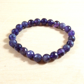 Amethyst Diamond Cut Bead Bracelet Size 8MM Unisex Bracelet Chakra Balancing  Meaning