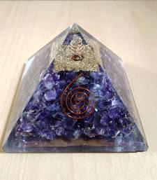 Amethyst Orgonite Pyramid Size - 3-3.5Inch Chakra & Reiki  Aura Cleansing