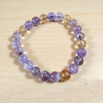 Ametrine Bead Bracelet Size 8MM Unisex Bracelet Chakra Balancing