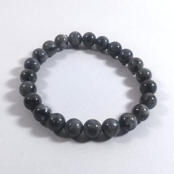 Black Labradorite Bead Bracelet Size 8MM Unisex Bracelet Chakra Balancing