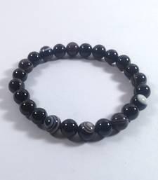 Black Onyx Beads Bracelet Size 8MM Unisex Bracelet Chakra Balancing feng Shui Items gemstone-bracelet