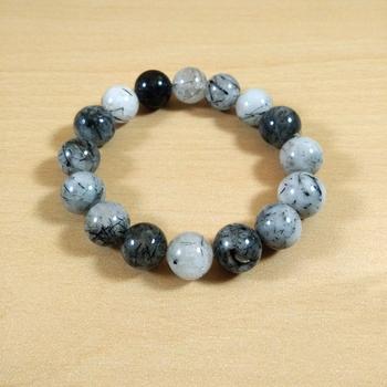 Black Rutile Bead Bracelet Size 8MM Unisex Bracelet Chakra Balancing