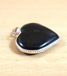 Black Tourmaline Heart Pendant Natural Gem Original  Chakra Balancing
