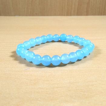 Chalcedony Bead Bracelet Size 8MM Unisex Bracelet Chakra Balancing Chakra Gem