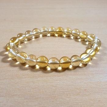 Citrine Heated Bead Bracelet Size 8MM Unisex Bracelet s  s
