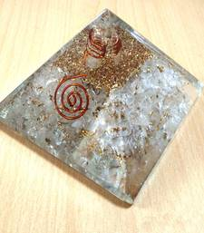 Buy Clear Quartz Orgonite Pyramid Size - 3-3.5Inch Chakra & Reiki  Aura Cleansing healing-stone online