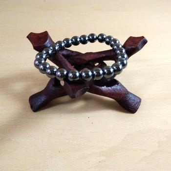 Hematite  Bead Bracelet Size 8MM  Unisex Bracelet Yoga Gem Bracelet Reiki Bracelet