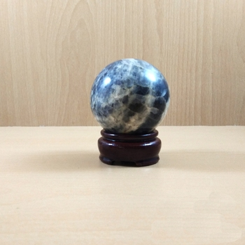 Iolite Gem Sphere Wt. - 150-250gm  Chakra Balancing Reiki And Aura Cleansing