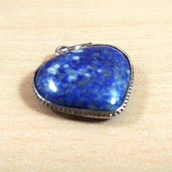 Lapis Lazuli Heart Pendant Natural Gem Original  Chakra Balancing