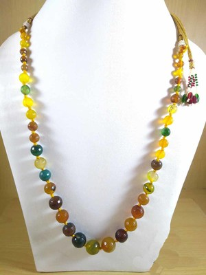 Multi Onyx Mala Necklace Boho Beaded Necklace Faceted Onyx Necklace Fancy Necklace