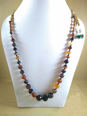Multi Onyx Mala Necklace Boho Beaded Necklace Faceted Onyx Necklace Fancy Necklace Raw!