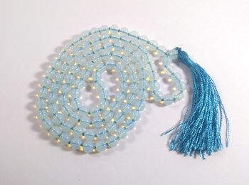 Opalite Mala Bead Size - 8mm Chakra Balancing Reiki  Aura Cleansing
