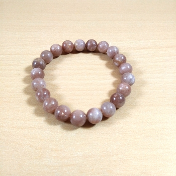 Peach Moon Bead Bracelet 8MM Men's Bracelet Womens Bracelet Chakra  Jewelry Yoga  Beads