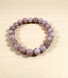 Peach Moon Bead Bracelet 8MM Men's Bracelet Womens Bracelet Chakra  Jewelry Yoga  Beads