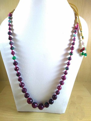Pink And Green Onyx Mala Necklace Boho Beaded Necklace Faceted Onyx Necklace Fancy Necklace