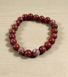 Red Jasper Beads Bracelet Size 8MM Unisex Bracelet Chakra Balancing Beads Aura Cleansing
