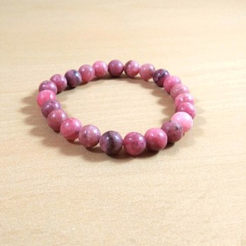 Rhodochrosite Bracelet Size 8MM Unisex Bracelet Pink Bracelet Energized Bracelet