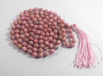 Rhodochrosite Natural Mala Bead Size - 8MM Chakra Balancing Reiki  Aura Cleansing