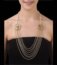 Buy Pearls multistrand kundan tikri necklace Necklace online