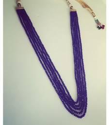 Buy Purple Crystals 5 line multistrand necklace Necklace online