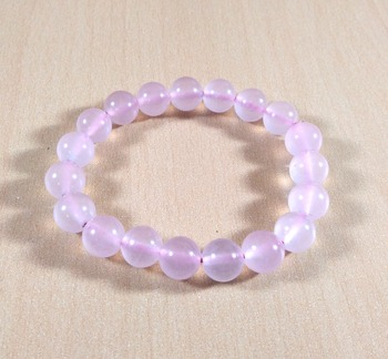 Rose Quartz Bead Bracelet Bead Size-10mm Gem Bracelet  Reiki Bracelet Free 3Pcs Of Amethyst Stick
