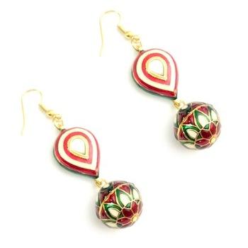 Royal Indian Enamel earrings