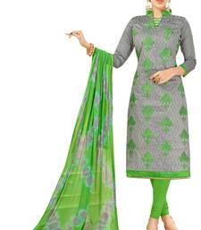 Buy Grey embroidered chanderi salwar chanderi-salwar-kameez online
